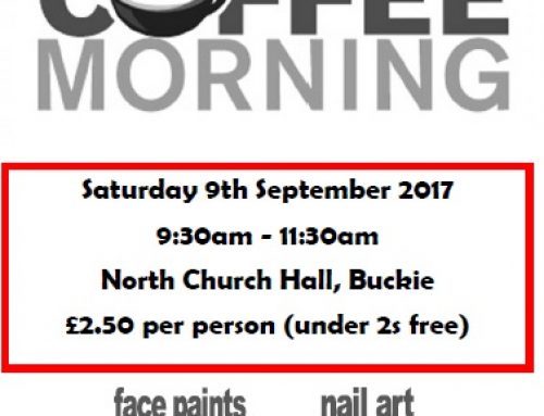 Coffee Morning – Saturday 9th September