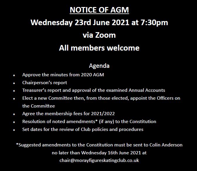 Notice of AGM 2021